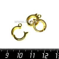 Бейл Премиум съемный, с застёжкой 15*11,5*3 мм, цвет золото, 1 штука 064133 - 99 бусин
