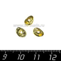 Шапочка для бусин Премиум Чипсы 8,5*6 мм, цвет золото 2 штуки/упаковка 064144 - 99 бусин