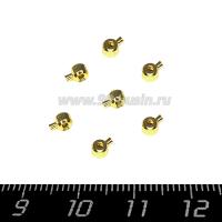 Кримпы Премиум защёлки (One-touch) 2,5 мм, цвет золото, 1 пара (2 шт.) 064148 - 99 бусин