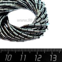 Натуральный камень ГЕМАТИТ форма Столбик 4*2 мм, около 40 см/нить 064155 - 99 бусин