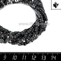 Натуральный камень ГЕМАТИТ форма Песочные часы, 3 мм, натуральный, около 40 см/нить 064161 - 99 бусин