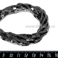 Натуральный камень ГЕМАТИТ брусочек 5*3 мм, цвет натуральный, 40 см/нить 064167 - 99 бусин