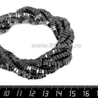 Натуральный камень ГЕМАТИТ гаечка 5*2 мм, цвет натуральный, 40 см/нить 064169 - 99 бусин