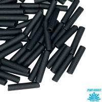 Стеклярус TOHO BUGLE 9 мм № 0049F черный матовый непрозрачный 5 граммов Япония 064228 - 99 бусин