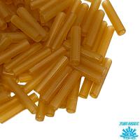 Стеклярус TOHO BUGLE 9 мм № 0002CF пшеничный матовый прозрачный 5 граммов Япония 064231 - 99 бусин