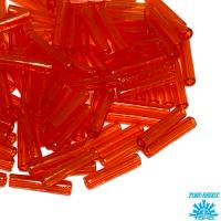 Стеклярус TOHO BUGLE 9 мм № 0005 морковный прозрачный 5 граммов Япония 064232 - 99 бусин