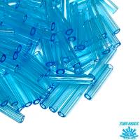 Стеклярус TOHO BUGLE 9 мм № 0003 голубой прозрачный 5 граммов Япония 064236 - 99 бусин