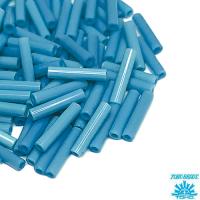 Стеклярус TOHO BUGLE 9 мм № 0043BD голубой непрозрачный 5 граммов Япония 064238 - 99 бусин
