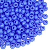 Бисер Чехия натуральный  непрозрачный, размер 08, арт. 33020, голубые тона, 10 грамм 064246 - 99 бусин