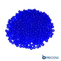 Бисер Чехия прозрачный, размер 8, арт. 30050, синие тона, 10 гр. 064248 - 99 бусин