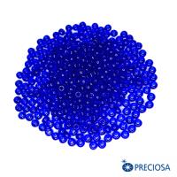 Бисер Чехия прозрачный, размер 8, арт. 60300  синие тона 10 грамм 064249 - 99 бусин
