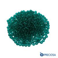 Бисер Чехия прозрачный, размер 8, арт. 50710  изумрудно-зеленые тона 10 грамм 064250 - 99 бусин