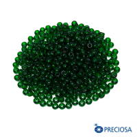 Бисер Чехия прозрачный, размер 8, арт. 50060  зеленые тона 10 грамм 064251 - 99 бусин