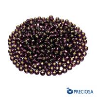 """Бисер Чехия PRECIOSA фиолетовый """"Огонек"""", размер 8 мм, квадатное отверстие, арт. 27060, 10 грамм 064255 - 99 бусин"""