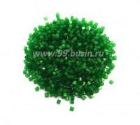 Рубка сатиновая Чехия размер 9 (2 мм) арт. 55041 зеленые тона упак. 10 грамм 064258 - 99 бусин