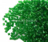 Рубка сатиновая Чехия размер 9 (2 мм) арт. 55041 зелёные тона упаковка 50 грамм 064259 - 99 бусин
