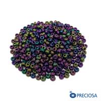 Бисер Чехия ирис фиолетовый, лиловый, синий, 08 размер, цвет 59195, 10 грамм 064269 - 99 бусин