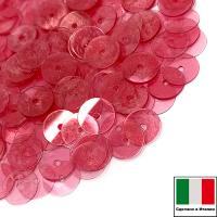Пайетки Италия LUSTRE 6 мм прозрачные красные 3 грамма 064272 - 99 бусин