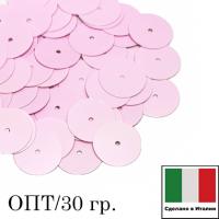 ОПТ! Пайетки Италия лаковые 6 мм цвет Rosa (нежно-розовый глянец) 30 граммов 064295 - 99 бусин