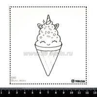 Шаблон для броши Рожок, фетр Корея Премиум, толщина 1,25 мм, размер 10*10 см 064318 - 99 бусин
