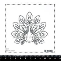 Шаблон для броши Павлин, фетр Корея Премиум, толщина 1,25 мм, размер 10*10 см 064324 - 99 бусин