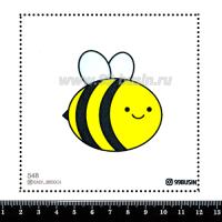 Шаблон для броши Пчёлка, фетр Корея Премиум, толщина 1,25 мм, размер 10*10 см 064326 - 99 бусин