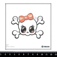 Шаблон для броши Гламурный череп, фетр Корея Премиум, толщина 1,25 мм, размер 10*10 см 064330 - 99 бусин