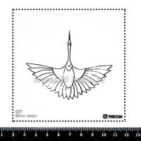 Шаблон для броши Журавль, фетр Корея Премиум, толщина 1,25 мм, размер 10*10 см 064337 - 99 бусин