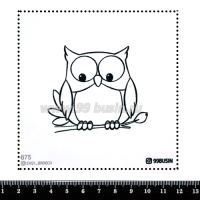 Шаблон для броши Сова, фетр Корея Премиум, толщина 1,25 мм, размер 10*10 см 064338 - 99 бусин