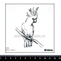 Шаблон для броши Попугай, фетр Корея Премиум, толщина 1,25 мм, размер 10*10 см 064339 - 99 бусин
