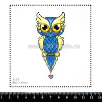 Шаблон для броши Совёнок, фетр Корея Премиум, толщина 1,25 мм, размер 10*10 см 064340 - 99 бусин