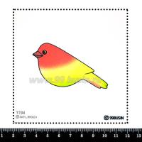 Шаблон для броши Птичка градиент желтый/розовый 1194, фетр Корея Премиум, толщина 1,25 мм, размер 10*10 см 064343 - 99 бусин
