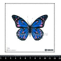 Шаблон для броши Бабочка 119, фетр Корея Премиум, толщина 1,25 мм, размер 10*10 см 064348 - 99 бусин