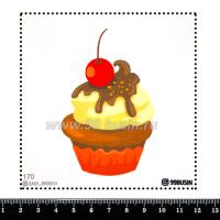 Шаблон для броши Кексик, фетр Корея Премиум, толщина 1,25 мм, размер 10*10 см 064351 - 99 бусин