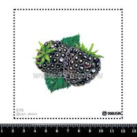 Шаблон для броши Ежевика, фетр Корея Премиум, толщина 1,25 мм, размер 10*10 см 064354 - 99 бусин