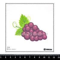 Шаблон для броши Виноград, фетр Корея Премиум, толщина 1,25 мм, размер 10*10 см 064355 - 99 бусин