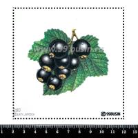 Шаблон для броши Чёрная смородина, фетр Корея Премиум, толщина 1,25 мм, размер 10*10 см 064356 - 99 бусин