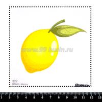 Шаблон для броши Лимончик, фетр Корея Премиум, толщина 1,25 мм, размер 10*10 см 064358 - 99 бусин
