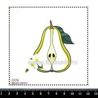 Шаблон для броши Груша, фетр Корея Премиум, толщина 1,25 мм, размер 10*10 см 064359 - 99 бусин