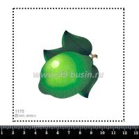 Шаблон для броши Лайм, фетр Корея Премиум, толщина 1,25 мм, размер 10*10 см 064360 - 99 бусин
