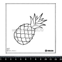 Шаблон для броши Ананас, фетр Корея Премиум, толщина 1,25 мм, размер 10*10 см 064361 - 99 бусин