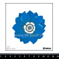 Шаблон для броши Цветок, фетр Корея Премиум, толщина 1,25 мм, размер 10*10 см 064364 - 99 бусин