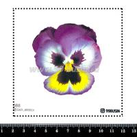 Шаблон для броши Анютины глазки, фетр Корея Премиум, толщина 1,25 мм, размер 10*10 см 064365 - 99 бусин
