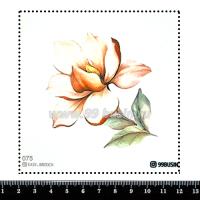Шаблон для броши Магнолия, фетр Корея Премиум, толщина 1,25 мм, размер 10*10 см 064366 - 99 бусин