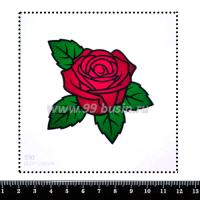 Шаблон для броши Роза, фетр Корея Премиум, толщина 1,25 мм, размер 10*10 см 064368 - 99 бусин