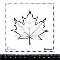 Шаблон для броши Кленовый лист, фетр Корея Премиум, толщина 1,25 мм, размер 10*10 см 064370 - 99 бусин