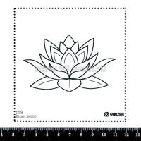 Шаблон для броши Лотос, фетр Корея Премиум, толщина 1,25 мм, размер 10*10 см 064371 - 99 бусин