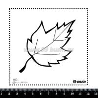 Шаблон для броши Листик, фетр Корея Премиум, толщина 1,25 мм, размер 10*10 см 064373 - 99 бусин