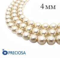 Жемчуг хрустальный Preciosa Maxima 4 мм Light Creamrose 10 штук/упаковка Чехия 064374 - 99 бусин