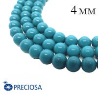 Жемчуг хрустальный Preciosa Maxima 4 мм Aqua Blue 10 штук/упаковка Чехия 064378 - 99 бусин